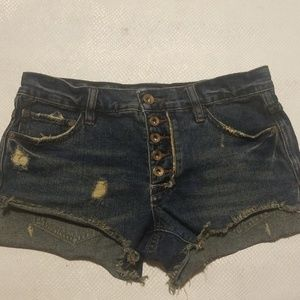 Free people distressed jeans size W25